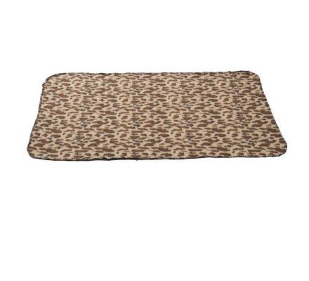 Plaid polaire pour animaux motif léopard 100x70cm