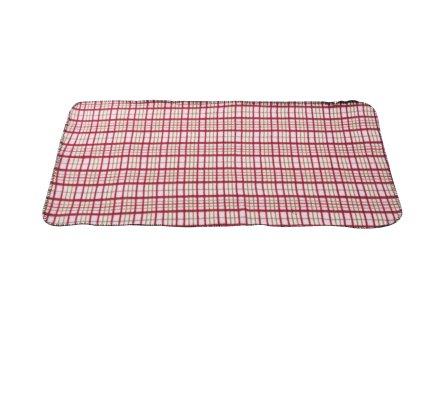Plaid polaire pour animaux à carreaux rouge 100x70cm