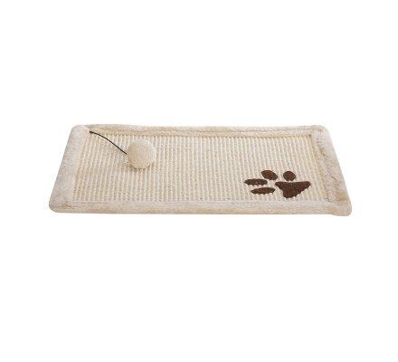 Tapis griffoir pour chat antidérapant avec balle 50x34cm