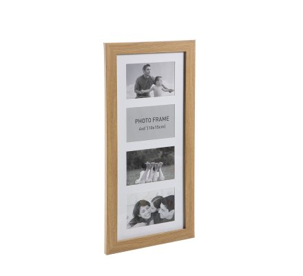 Cadres 4 photos rectangulaire en bois 54x26cm