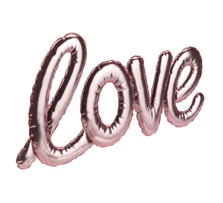 Sticker ballon love Rose 40cm