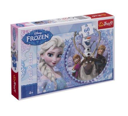 Puzzle Trefl 60 pièces la reine des neiges 33x22cm