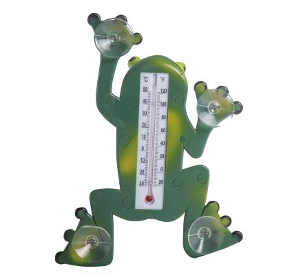 Thermomètre en forme de grenouille à ventouses