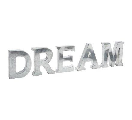 """Lettres décoratives en zinc gris """"DREAM"""" Atmosphéra H20cm x L 86cm"""