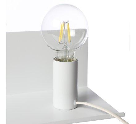 Lampe magnétique avec étagère en métal blanc Atmosphéra L50cm