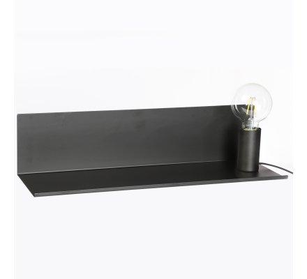 Lampe magnétique avec étagère en métal noir Atmosphéra L50cm