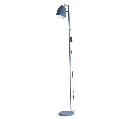 Lampadaire en métal bleu Atmosphéra H150cm