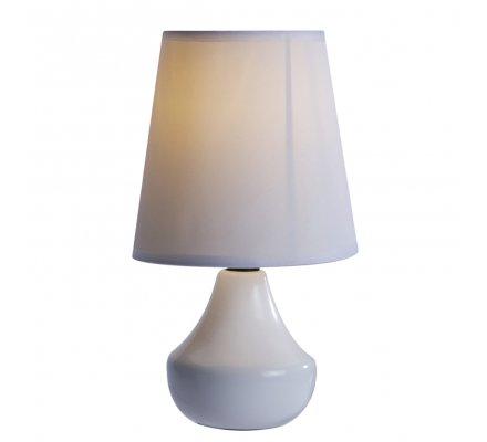 Lampe de chevet en céramique coloris uni blanc H24cm