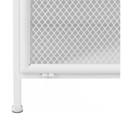 Meuble commode industriel Atmosphéra 3 étagères en métal blanc H 102 x L 70 x l 37cm