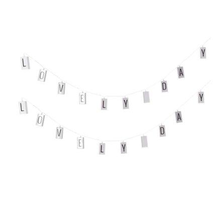 Lot de 2 guirlandes lumineuses à lettres 10 Led 120cm