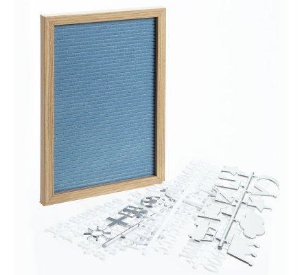 Tableau à lettre, panneau à message bleu 20x30cm
