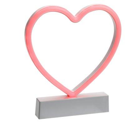 Coeur déco LED à poser 21,5x19cm