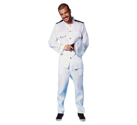Déguisement, costume homme capitaine de navire taille unique