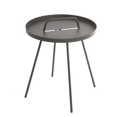 Table d'appoint avec plateau amovible rond en acier H52cm