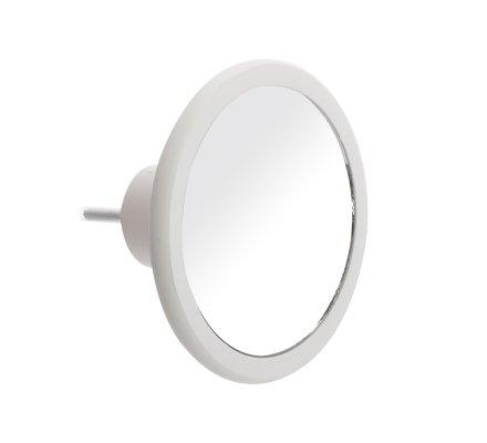 Lot de 3 patères rondes avec miroir intégré 3 tailles coloris blanc