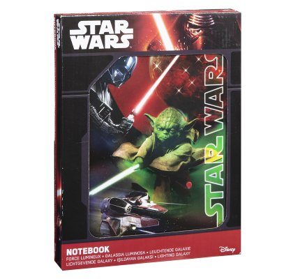 Cahier, journal intime lumineux Star Wars