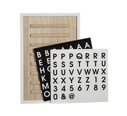 Tableau à lettres en bois contour blanc 30x45cm
