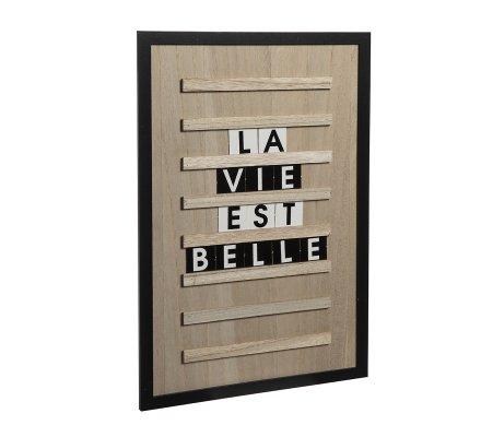 Tableau à lettres en bois contour noir 30x45cm