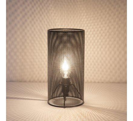 Lampe tube en métal ajouré noir Atmosphéra H24cm