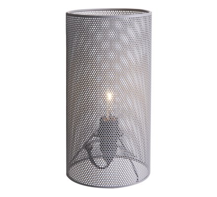 Lampe tube en métal ajouré gris Atmosphéra H24cm