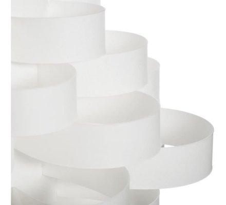 Lampe trépied en bambou abat-jour blanc H 55,5cm