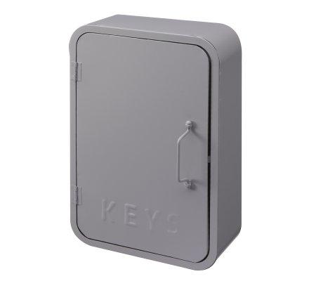 Boite à clefs déco murale Atmosphéra en métal gris 30cm