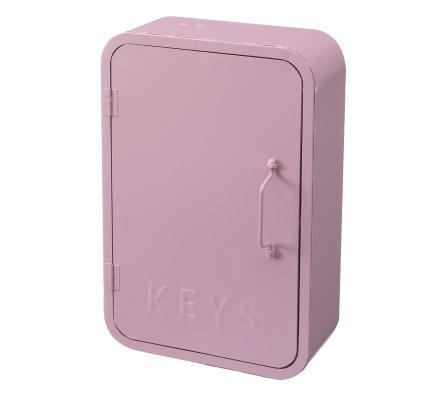 Boite à clefs déco murale Atmosphéra en métal rose 30cm