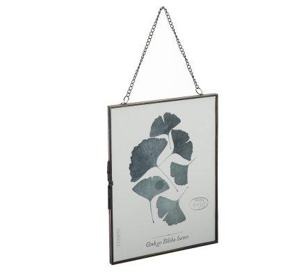 Cadre photo en métal avec chaine à suspendre 15x20cm