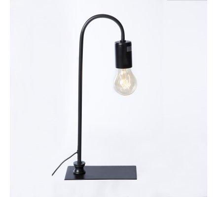 Lampe à poser design industriel courbée en métal noir H41cm