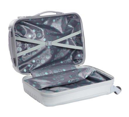 Lot de 2 valises de voyage à roulettes fermeture à code 55cm et 65cm coloris gris