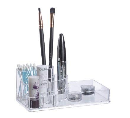 Rangement maquillage, organisateur 8 compartiments en pvc