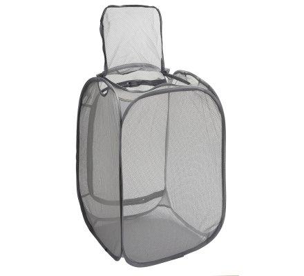 Corbeille, panier à linge filet 2 en 1, 75L avec zip et poignée