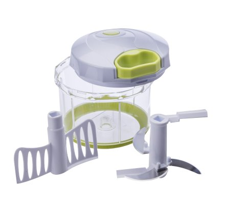 Hachoir à légumes manuel capacité 1L pratique d'utilisation avec 2 fonctions