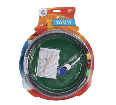 Piste de Yam, piste de dés feutrine verte avec jetons D 29cm
