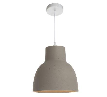 Luminaire suspension en béton gris D 30cm Atmosphéra