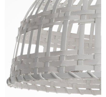 Luminaire suspension en bambou blanc cassé D 40cm Atmosphéra