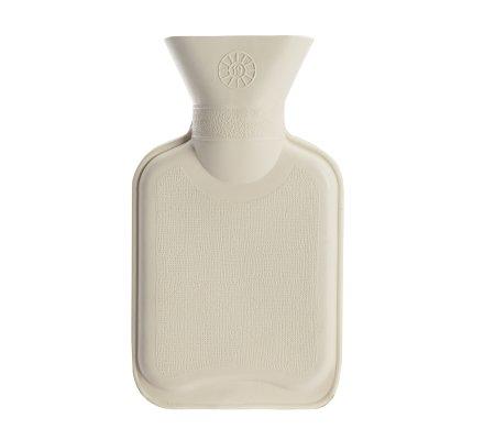 Bouillotte fourrure blanche 280ml caoutchouc naturel