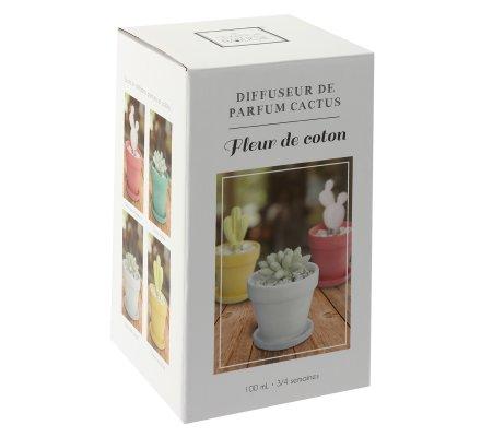 Diffuseur de parfum cactus fleur de coton 100ml