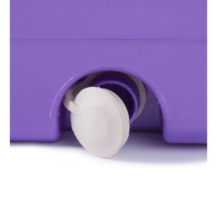 Double seau essoreur empilable avec centrifugeuse en inox, balai rotatif 360° et 2 recharges microfibres