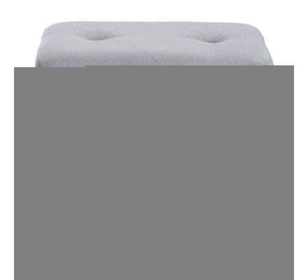 Banc, coffre valise sur pied en bois coloris gris chiné 46x51x36cm