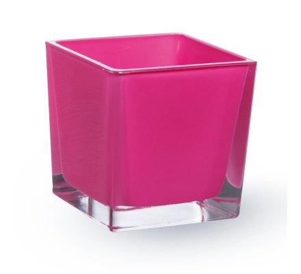 Lot de 4 Cubes (L)6x(l)6x(h)6cm Fuchsia