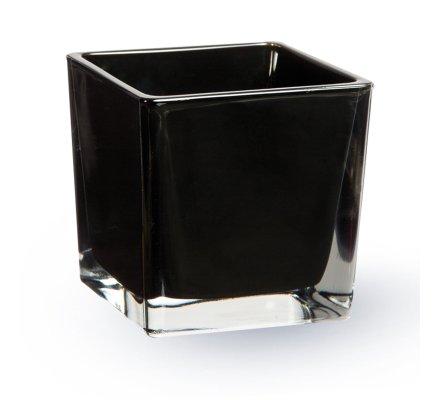 Lot de 4 Cubes (L)6x(l)6x(h)6cm Noir