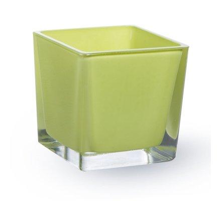Lot de 4 Cubes (L)6x(l)6x(h)6cm Vert pomme