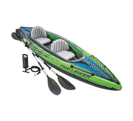 Canoë, kayak gonflable Intex 2 personnes Challenger K2 avec gonfleur et pagaies 351x76x38cm