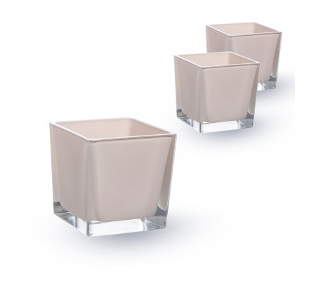Lot de 3 Cubes 10x10x10cm Lin