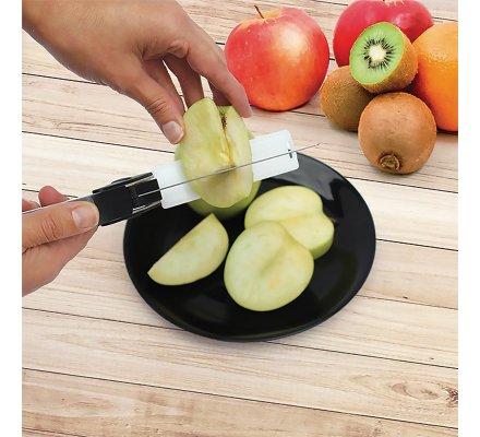 Ciseaux de cuisine multifonction coupe express 2 en 1 lame inox