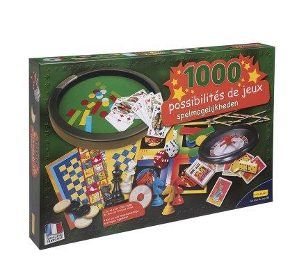 Coffret 1000 jeux de société + 1 CD avec 1000 règles de jeux en français