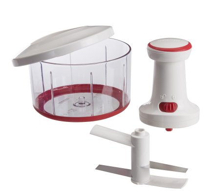 Hachoir manuel LEIFHEIT 1L en plastique et inox avec accessoire mélangeur