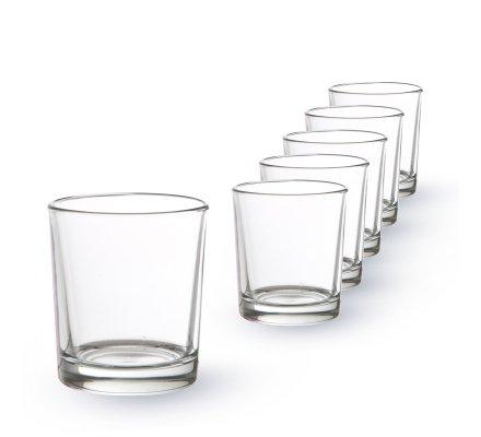 Lot de 6 Lumignons transparents(h)6,5x(d)6cm