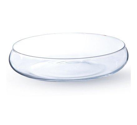 Photophore Coupe arrondie en verre (h)6x(d)25cm